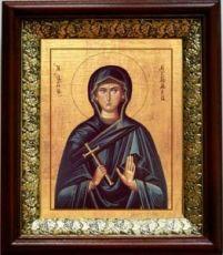 Евгения Римская (19х22), темный киот