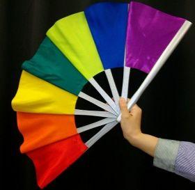 Веер ломается и восстанавливается (разноцветный) Broken and Restored Fan