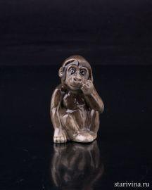 Детеныш гориллы, миниатюра, Hutschenreuther, Германия.