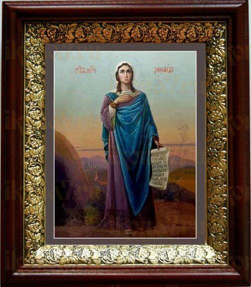 Зинаида Тарсийская (19х22), темный киот