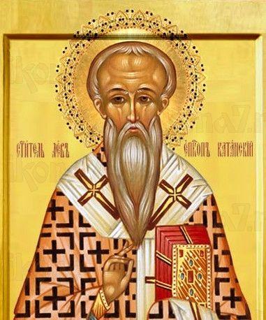 Икона Лев Катанский (рукописная)