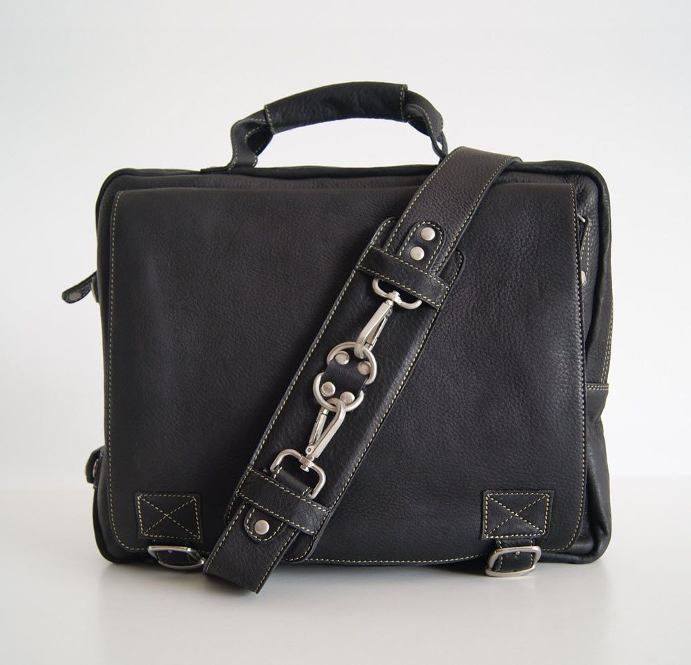 BUFALO TRP-03 BLACK кожаный рюкзак-портфель-трансформер