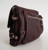 BUFALO TRP03 BROWN кожаный рюкзак-портфель-трансформер
