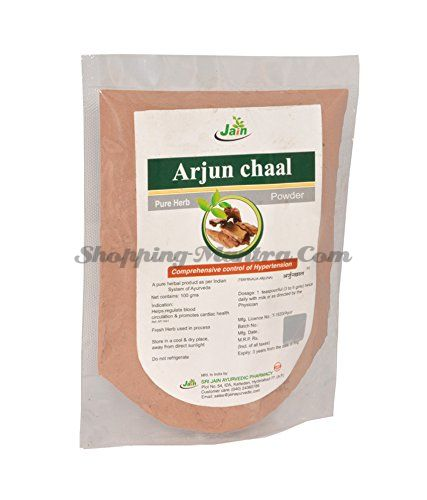 Кора дерева Арджуна в порошке Джайн Аюрведик / Jain Ayurvedic Arjun Chaal Powder