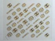 Наклейки 3D E-51 (золото)