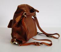 BUFALO TRJ04 CANELO кожаная сумка-рюкзак-трансформер