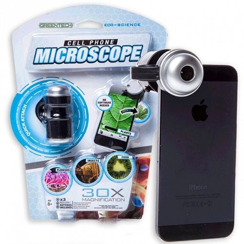 Микроскоп для телефонов Microscope Phone 30х увеличение