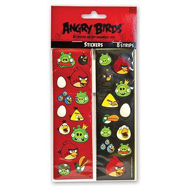 Наклейки Angry Birds, 8 листов