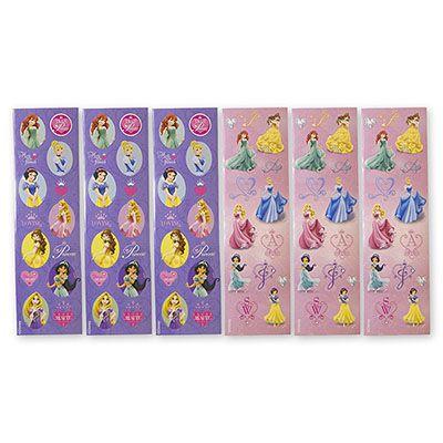 Наклейки Disney Принцессы, 8 листов