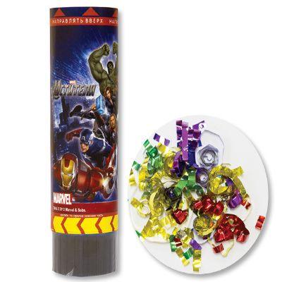 Хлопушка Marvel Мстители 16см пружинная