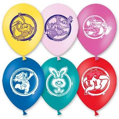 """Воздушный шар с рисунком 10"""" Мультфильмы 5 шт."""