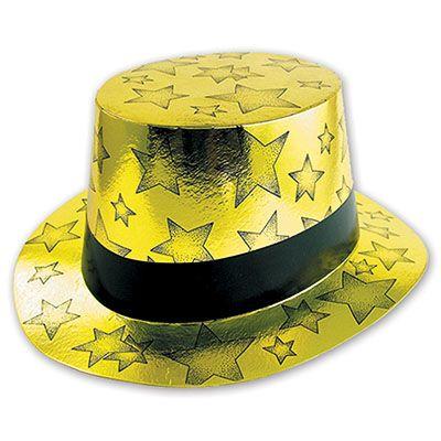 Шляпа Звезды фольга золотая