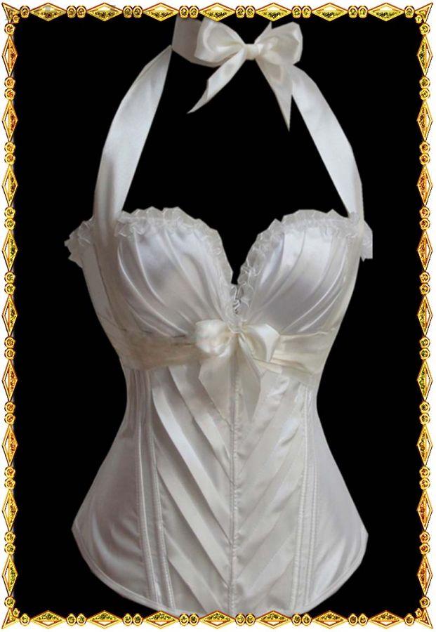 Свадебный белый корсет с завязкой-лентой