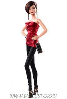 Коллекционная кукла Барби Красное платье (Городское сияние) - City Shine Barbie Doll—  Red Dress