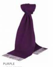 шарф 100% шерсть ягнёнка , классический  цвет Фиолетовый Purple  ,плотность 6.