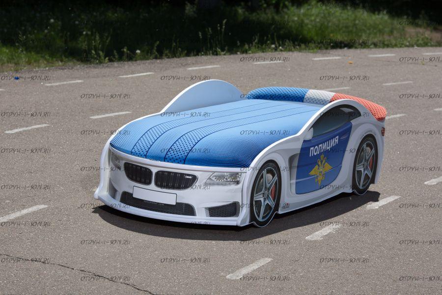 Кровать-машина Мерседес Police UNO с матрасом