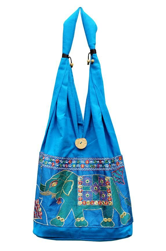 Голубая сумка со слоном (отправка из Индии)