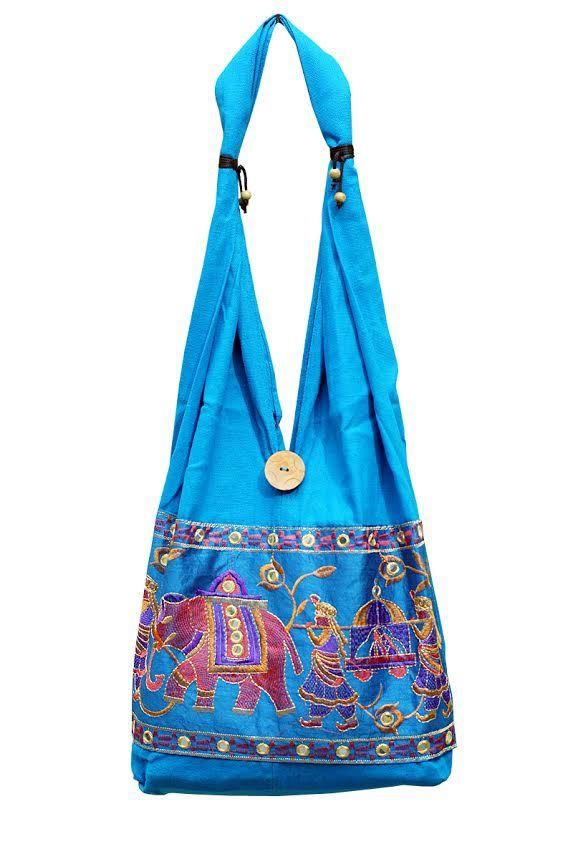 Голубая сумка со слонами (отправка из Индии)