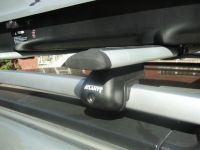 Багажник на крышу Renault Duster, Атлант, крыловидные дуги на рейлинги
