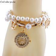 Женский браслет с кварцевыми часами №2