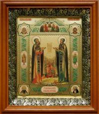 Петр и Феврония (19х22), светлый киот