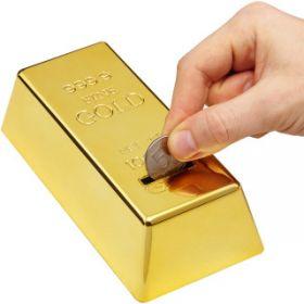 """Копилка """"Слиток золота"""""""