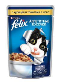 Felix Курица и томаты в желе (85 г)
