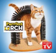 Кошачья когтеточка с щеткой PURRFECT ARCH
