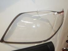 Защита фар Egr, прозрачная c окантовкой под карбон