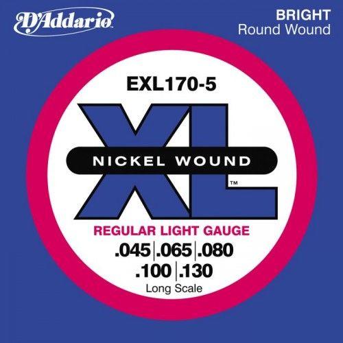 D`ADDARIO EXL170-5 (045-130) Струны для бас-гитары (5 стр.)