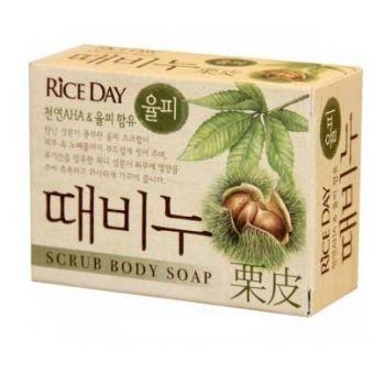 Скраб-мыло туалетное земляной орех Riceday CJ Lion