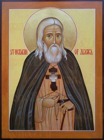 Икона Герман Аляскинский (рукописная)