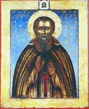 Герман Соловецкий (рукописная икона)