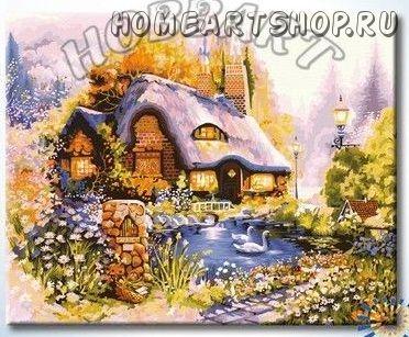 """Картина по номерам """"Пасторальный домик"""""""