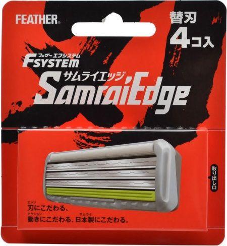 """Запасные кассеты с тройным лезвием для станка Feather F-System """"Samurai Edge"""" Lion"""
