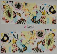 Водная наклейка для дизайна ногтей С 238