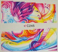 Водная наклейка для дизайна ногтей С 245