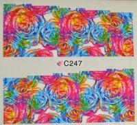 Водная наклейка для дизайна ногтей С 247