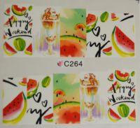 Водная наклейка для дизайна ногтей С 264
