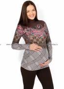 """SALE! Водолазка """"Норина"""" коричневая в клетку для беременных"""