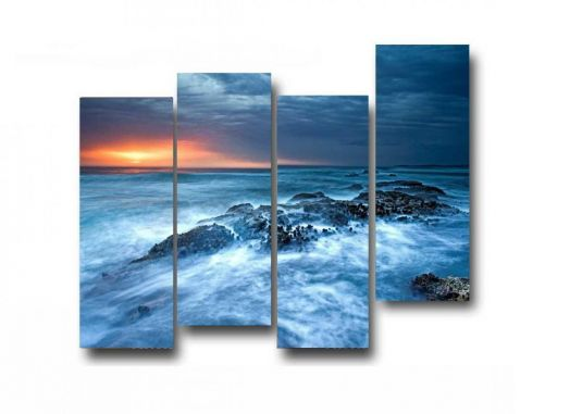 Модульная картина Бушующее море