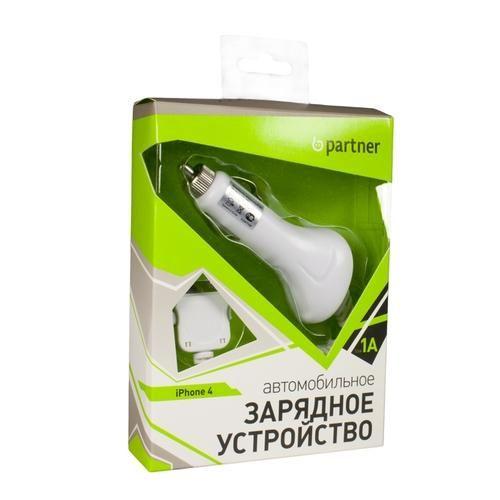 Автомобильное зарядное устройство Partner для iPhone4, 1А