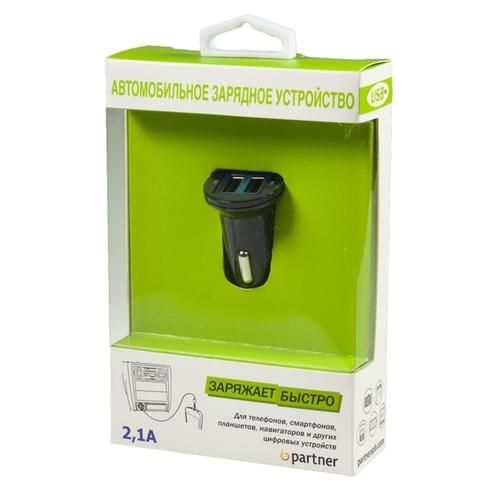 АЗУ Partner USB 2.1A, 2USB