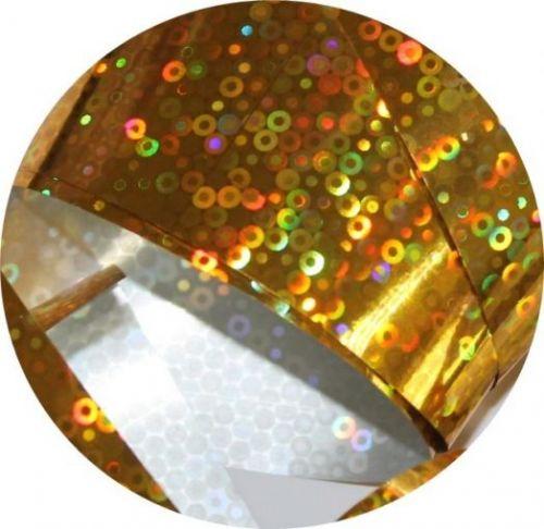 Фольга для литья и кракелюра Royal (30) золото голографический круг