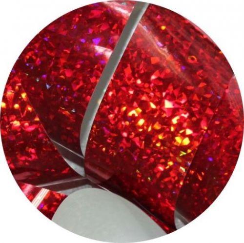 Фольга для литья и кракелюра Royal (23) красный голографический кристалл