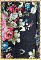 Аутентичный эксклюзивный черный корсет с розами. Бюск