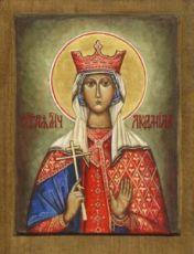 Икона Людмила Чешская (рукописная)