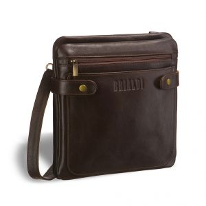 Кожаная сумка через плечо BRIALDI Nevada (Невада) brown