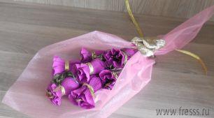 """Букет цветов из конфет """"Сладкая миниатюра"""""""