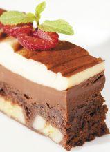 Почтовая открытка Шоколадный десерт